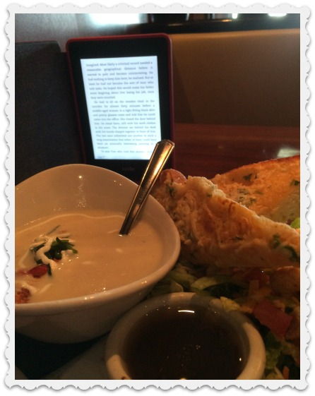 lunch and reading - 128
