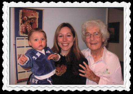 3 generations again - Noah, Heather, Mary - 2003