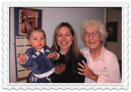 3 generations again - Noah, Heather, Mary - 2003